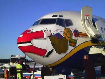 airlinesantasplat